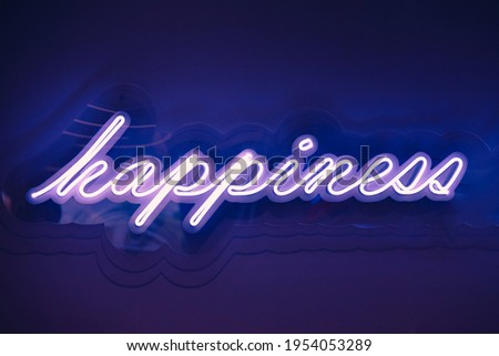 Happiness Neon Sign Light signage Type Holiday event decoration