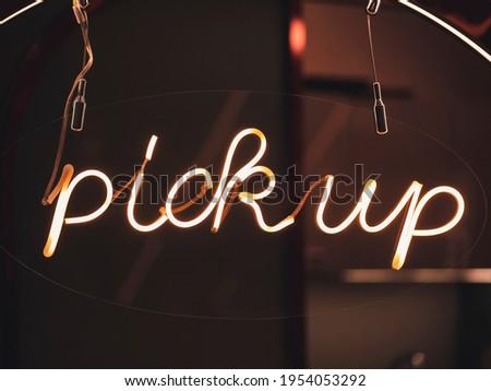 Pick up Neon Sign Light signage Delivery Type Bar Restaurant Shop Business