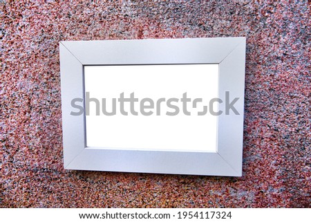 Modernist interior and picture frame, Official Building Design. granite chips