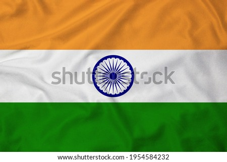 Flag of India with texture Royalty-Free Stock Photo #1954584232