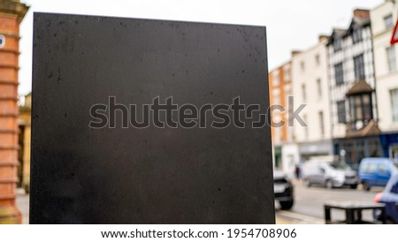 Blank sign template in UK Regency Town Centre
