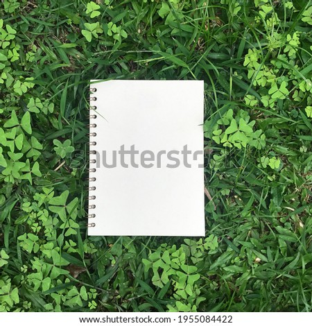 beautiful notebooks with blank covers with natural backgrounds