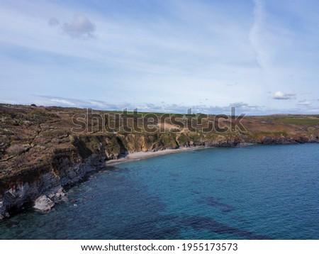 coast between Prussia cove and praa sands Cornwall england uk