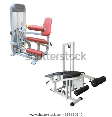 gym apparatus under te white background #195610940