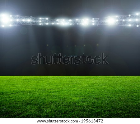 On the stadium. abstract football or soccer backgrounds  Royalty-Free Stock Photo #195613472