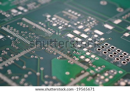 Green circuit board without components. #19565671