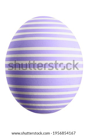 Large picture of an isolated easter egg with a stripes pattern.