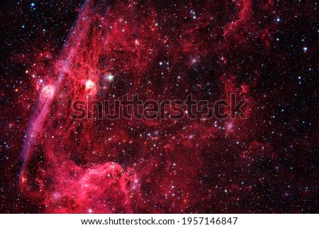 Beautiful galaxy somewhere in deep space. Cosmic wallpaper. Elements of this image furnished by NASA Royalty-Free Stock Photo #1957146847