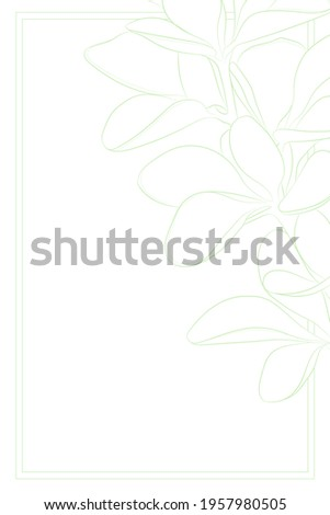 Decorative light background with barberry branch. Card template design. Vector illustration. Royalty-Free Stock Photo #1957980505