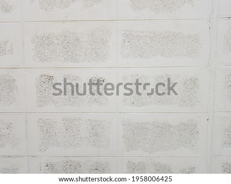 white cheap wall brick structure