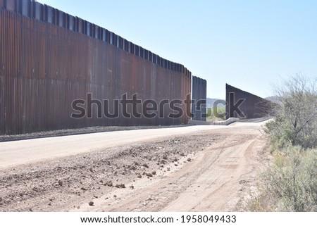 Crisis at the Southern Border Royalty-Free Stock Photo #1958049433