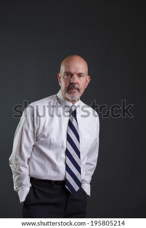 Businessman in white shirt and big strip tie #195805214