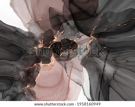 Pink gold marble background , abstract alcohol ink. Backdrop design.