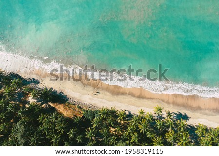 The west beach of St Martin's island. The most beautiful beach in Bangladesh located inside the Bay of Bengal. Royalty-Free Stock Photo #1958319115