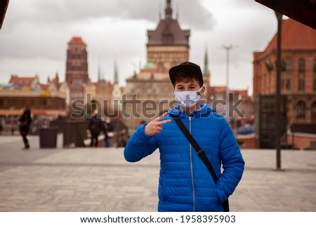 Pictures of tourists in Gdansk