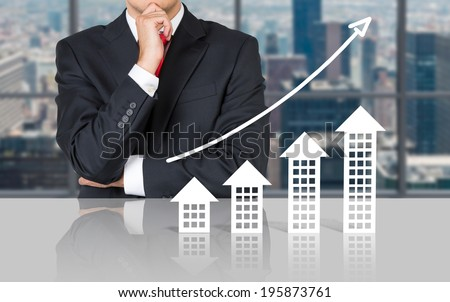 Businessman and real estate market. Meeting room.  #195873761