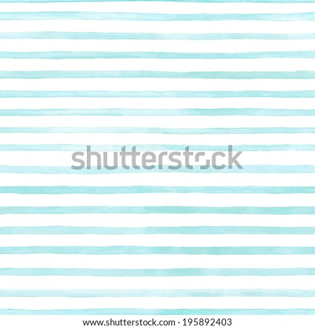 blue stripes on white background watercolor painting Royalty-Free Stock Photo #195892403