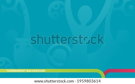 Football championship 2020 blue background vector stock illustration. euro 2020 Abstract background soccer or football texture. Poster Championship trend Wallpaper. Royalty-Free Stock Photo #1959803614