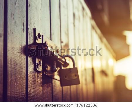 door lock old rusty background #196122536