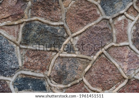 stone pavement with abstract pattern.