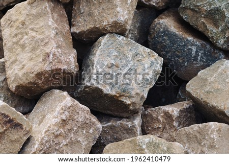 Paving stones Road construction background Royalty-Free Stock Photo #1962410479