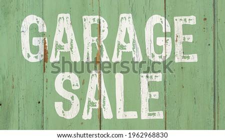 Wooden retro sign - Garage sale