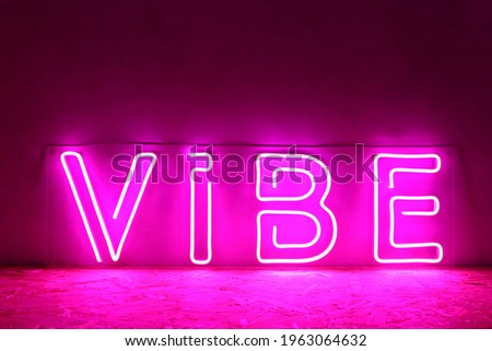 Pink neon sign vibe. Trendy style. Neon sign. Custom neon. Home decor.