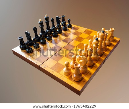 ancient game of wooden chess