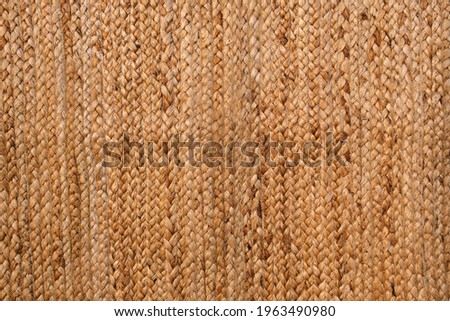 Straw mat texture. Wicker straw cloth. Abstract background, pattern for design. Royalty-Free Stock Photo #1963490980