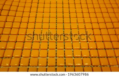 Fragments of ceramic tiles. Colored tiles for mosaic, background.