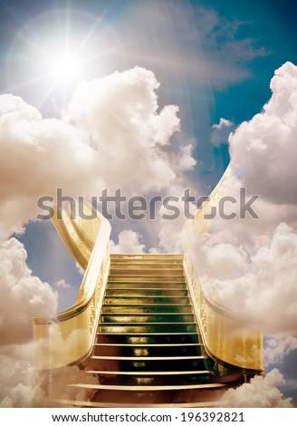 golden stairway to heaven background
