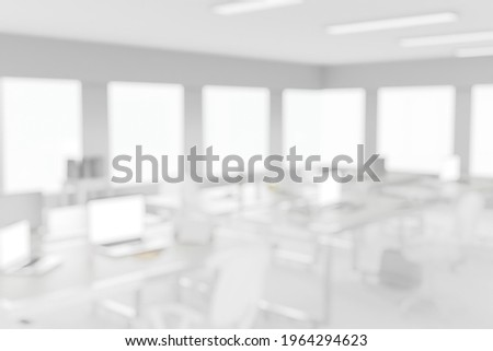 Blurred light background with light office space. Abstract business background for use as a watermark on a slide or presentation