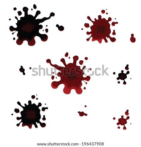 Set of vector blots. Blots. Vector illustration  #196437908