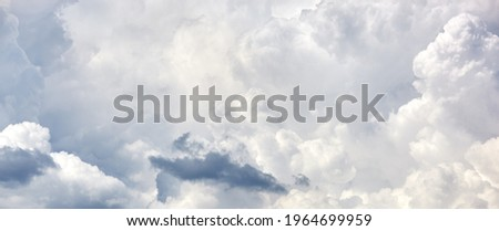 Abstract image of blurred sky. Blue sky background with cumulus clouds Royalty-Free Stock Photo #1964699959