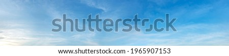 Panorama sky with cloud on a sunny day. Beautiful cirrus cloud. Royalty-Free Stock Photo #1965907153