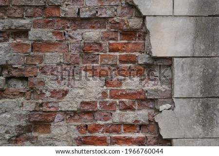 Brick texture for the background. High quality photo Royalty-Free Stock Photo #1966760044