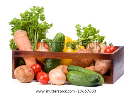 Vegetable collection on a white #19667683