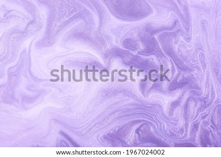 Abstract fluid art background light purple and lilac colors. Liquid marble. Acrylic painting on canvas with violet shiny gradient. Alcohol ink backdrop with pearl wavy pattern. Royalty-Free Stock Photo #1967024002