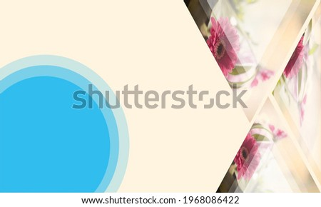Beautiful glass background design in PowerPoint