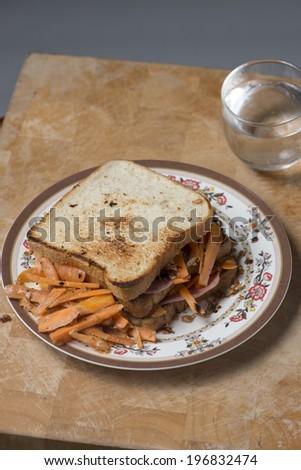 Homemade Ham sandwich  #196832474