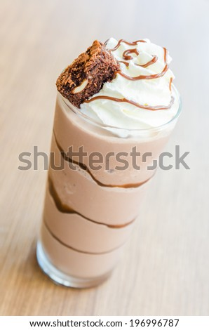 Chocolate smoothies #196996787