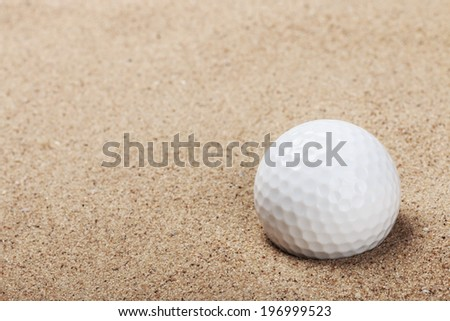 golf ball on the sand background #196999523