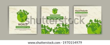 World Environment Day. Education and campaigns on the importance of protecting nature. social media post for World Environment Day. Royalty-Free Stock Photo #1970154979