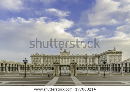 The Royal Palace of Madrid is the official residence of the Spanish Royal Family at the city of Madrid