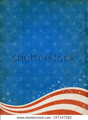 Textured patriotic background with room for copy space.