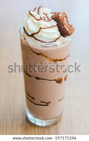 Chocolate smoothies #197171246