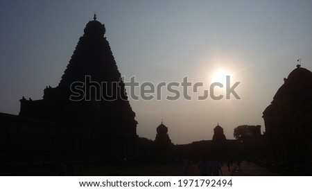 this picture was taken from brihadishvara temple. it's is one of the largest and oldest temple in South India. it's built by Tamil king Raja Raja chola..this temple was located at Thanjavur, Tamilnadu