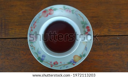 picture of hot coffee on a plate