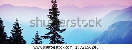 Beautiful mountain peak in  North Cascade Range, Washington,  USA Royalty-Free Stock Photo #1972166246