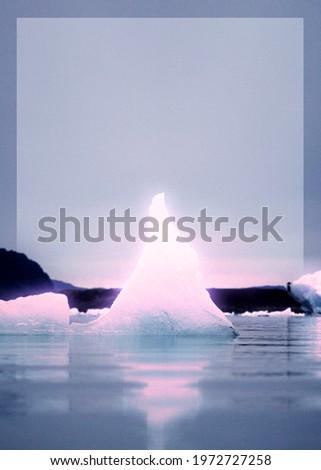 Iceberg at southeastern Iceland background wallpaper